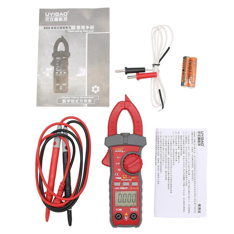 UA220D Digital Clamp meter with DC current NCV TRMS tester